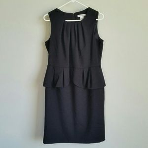 Liz Claiborne Sleeveless Black Peplum Dress - 12